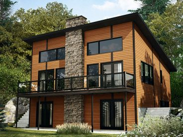 Modern Mountain House Plan, 027H-0458
