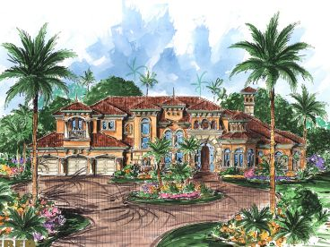 Mediterranean Home Plan, 037H-0070