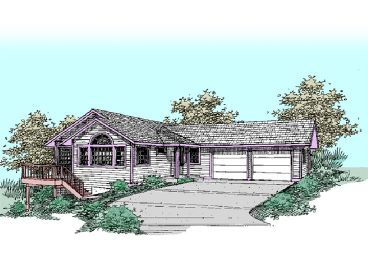 Sloping Lot Home Plan, 013H-0058