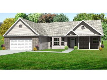 Ranch House Design, 048H-0054