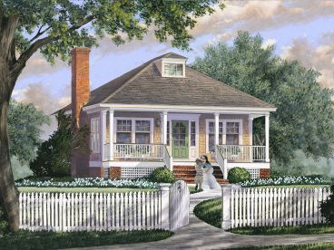 Cottage House Plan, 063H-0232