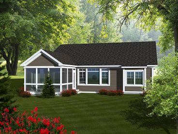 empty-nester house plans | affordable empty-nester home plan