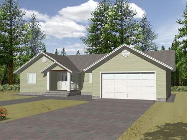 One-Story House Plan, 012H-0144