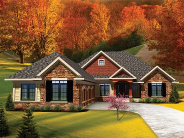 Ranch Home Plan, 020H-0258