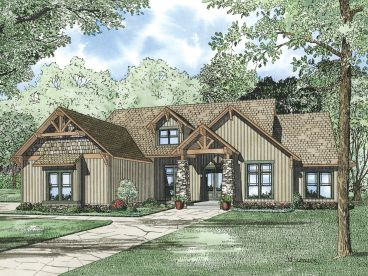Craftsman House Plan, 025H-0188