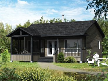 Cabin House Plan, 072H-0190