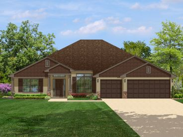 One-Story Home Plan, 064H-0031