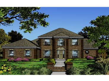 Colonial House Plan, 043H-0133