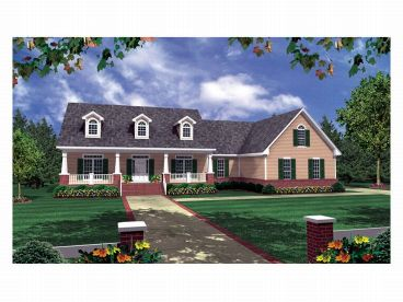 Country Home Plan, 001H-0086