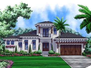 West Indies House Plan, 037H-0186