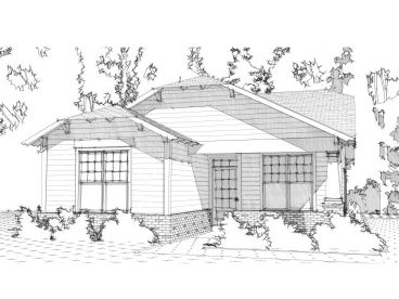 Bungalow Home Plan, 073H-0115