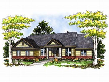 1-Story House Plan, 020H-0056
