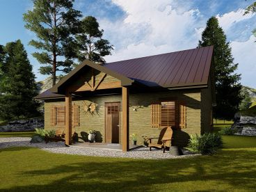 Cabin House Plan, 050H-0150