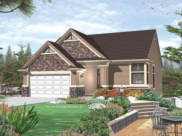 Narrow Lot Home Design, 034H-0062