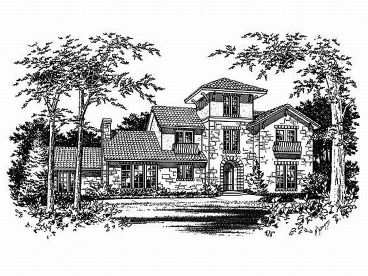 Mediterranean Home Plan, 036H-0033