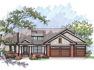 Ranch House Plan, 020H-0227