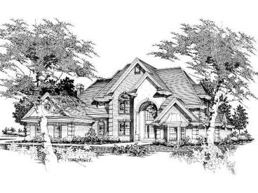 European House Plan, 061H-0129