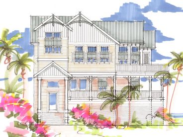 Coastal House Plan, 041H-0095