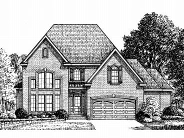 Two-Story House Plan, 011H-0037