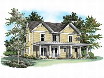 Narrow Lot House Plan, 019H-0104