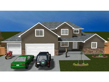Two-Story House Plan, 065H-0014