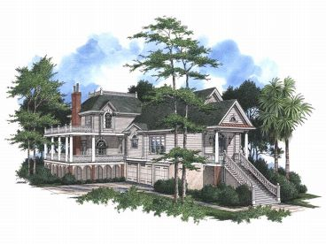 Southern Home Design, 017H-0026