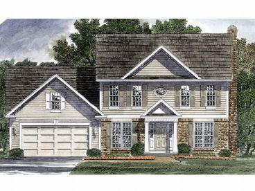 Colonial Home Plan, 014H-0052