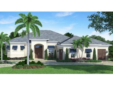 Mediterranean Home Plan, 063H-0003
