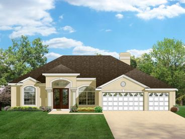 Sunbelt Home Plan, 064H-0029