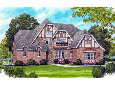European House Plan, 029H-0091