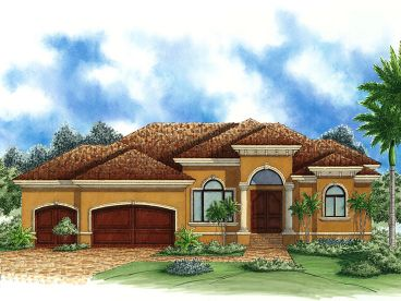 Sunbelt House Design, 037H-0142