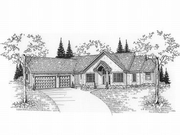Ranch House Design, 009H-0040
