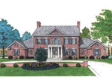 Colonial House Plan, 002H-0059