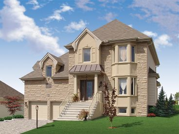 European House Plan, 027H-0184