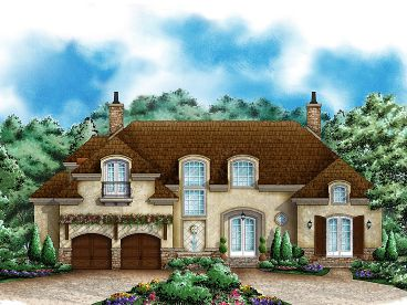 European House Plan, 037H-0135