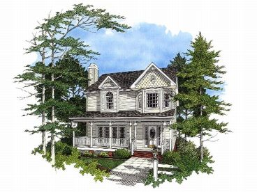 Narrow Lot House Plan, 007H-0047