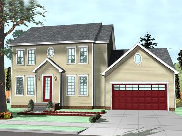 Colonial House Plan, 050H-0107