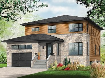 Narrow Lot House Plan, 027H-0388