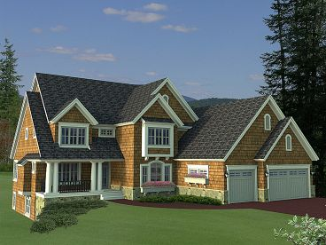 Two-Story House Plan, 023H-0168
