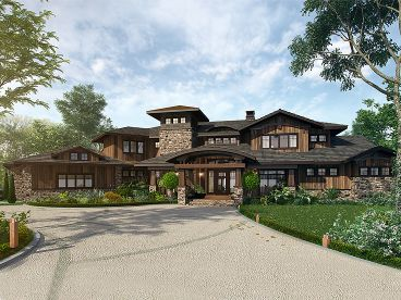 Premier Luxury House Plan, 066H-0034