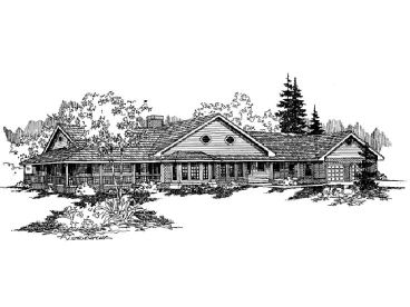 Country House Plan, 013H-0018