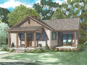 Cottage House Plan, 025H-0356