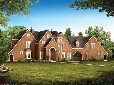 European House Plan, 057H-0020