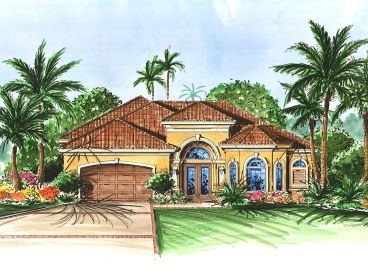 Florida Style House Plan, 040H-0001
