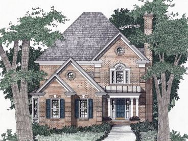 Narrow Lot Home Plan, 045H-0044