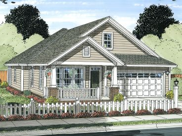 Narrow Lot Home Plan, 059H-0175