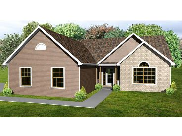 Ranch Home Plan, 048H-0070