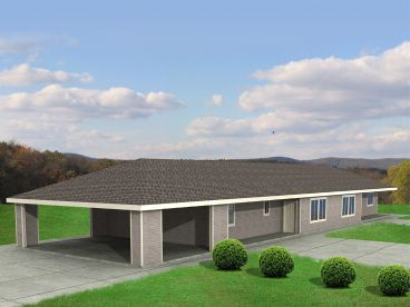 Duplex Home Plan, 012M-0002