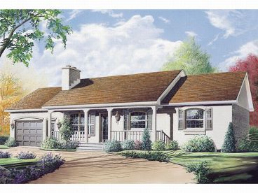 Ranch House Plan, 027H-0003