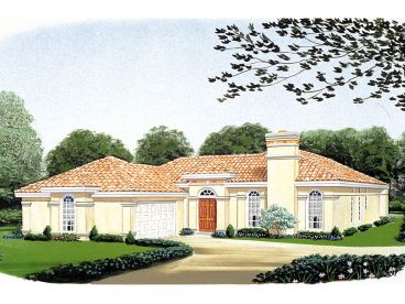 Sunbelt House Plan, 054H-0114